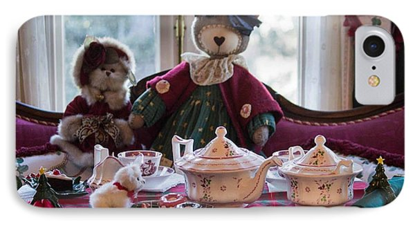 IPhone Case featuring the photograph Teddy Bear Tea Party by Patricia Babbitt