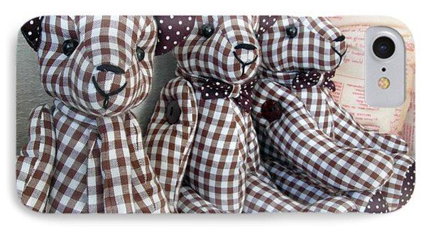 Teddy Bear Triplets IPhone Case by Ian Scholan