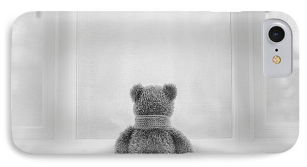 Teddy Bear Waiting IPhone Case by Natalie Kinnear