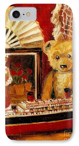 Teddy Bear With Tugboat Doll And Fan Childhood Memories Old Toys And Collectibles Nostalgic Scenes  Phone Case by Carole Spandau