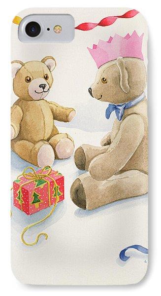 Teddy Bears Parcel IPhone Case by Lavinia Hamer