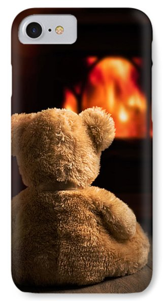 Teddy By The Fire IPhone Case