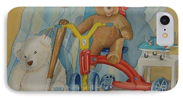 Teddy On A Bike IPhone Case