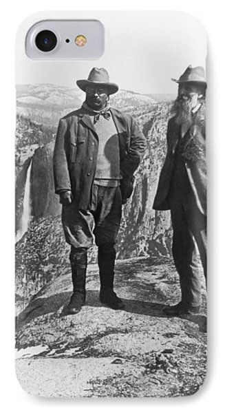 Teddy Roosevelt And John Muir IPhone Case by Underwood Archives