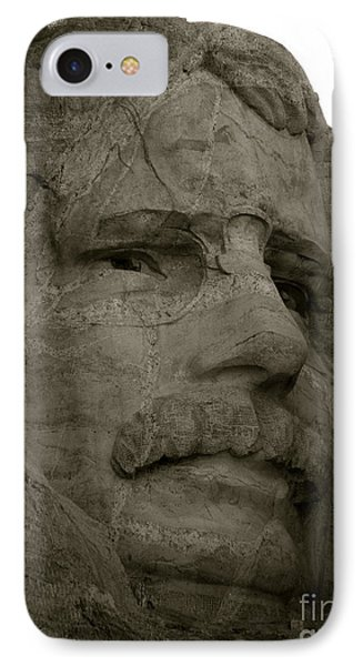 Teddy Roosevelt In Black And White IPhone Case by KD Johnson