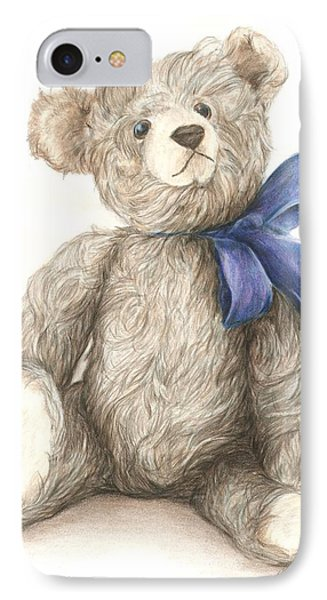 IPhone Case featuring the drawing Teddy Study 2 by Meagan  Visser