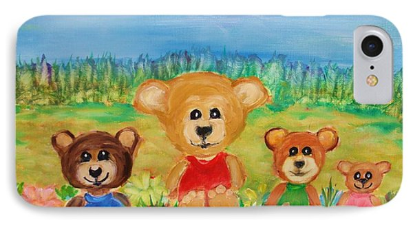 Teddybears Day Out IPhone Case