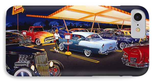 Teds Drive-in IPhone Case by Bruce Kaiser