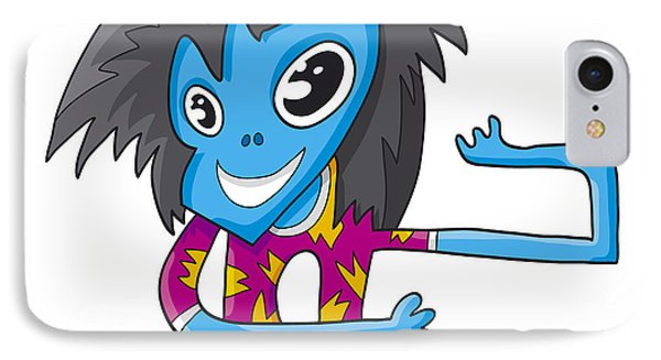 Teenage Popstar Doodle Character IPhone Case by Frank Ramspott