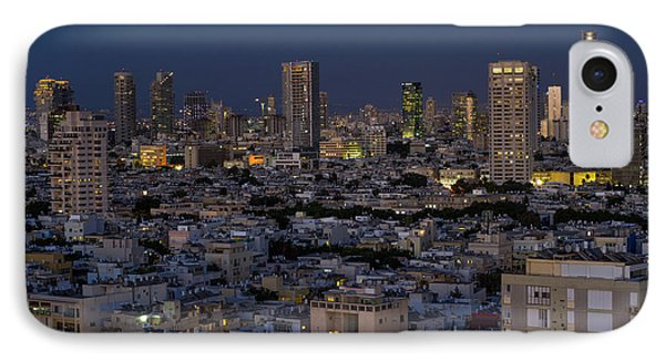 IPhone Case featuring the photograph Tel Aviv At The Twilight Magic Hour by Ron Shoshani