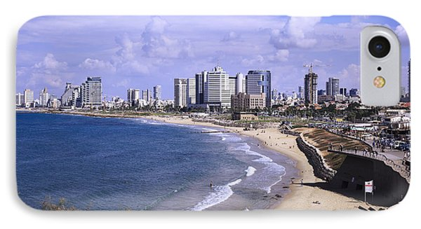 Tel Aviv Beach IPhone Case by Uri Baruch