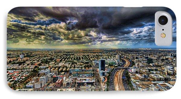 Tel Aviv Blade Runner Phone Case by Ron Shoshani