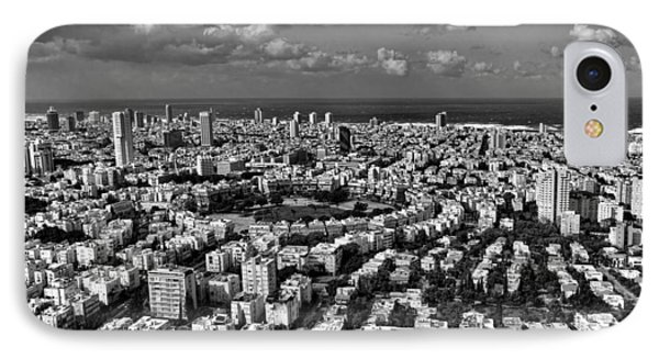 Tel Aviv Center Black And White IPhone Case