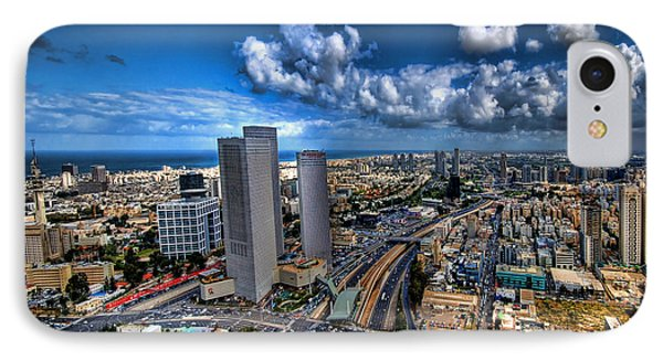 Tel Aviv Center Skyline Phone Case by Ron Shoshani