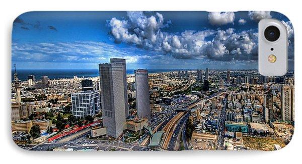 Tel Aviv Center Skyline IPhone Case
