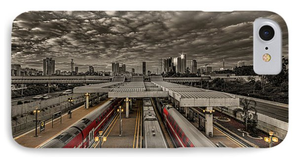 Tel Aviv Central Railway Station IPhone Case