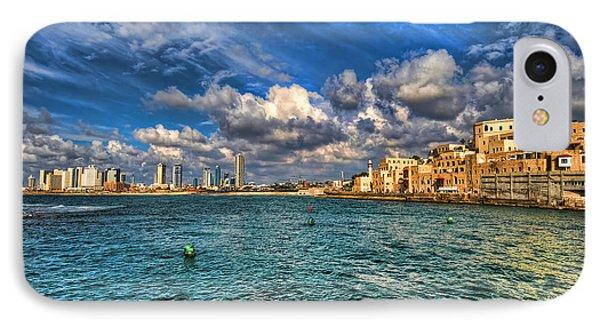 Tel Aviv Jaffa Shoreline Phone Case by Ron Shoshani