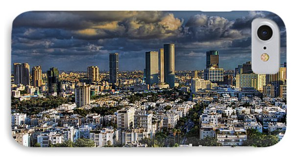 IPhone Case featuring the photograph Tel Aviv Skyline Fascination by Ron Shoshani