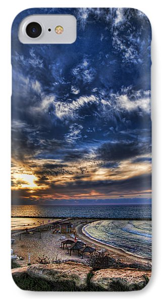 IPhone Case featuring the photograph Tel Aviv Sunset At Hilton Beach by Ron Shoshani