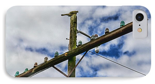 Telegraph Pole - Yesterdays Technology IPhone Case by Paul Ward