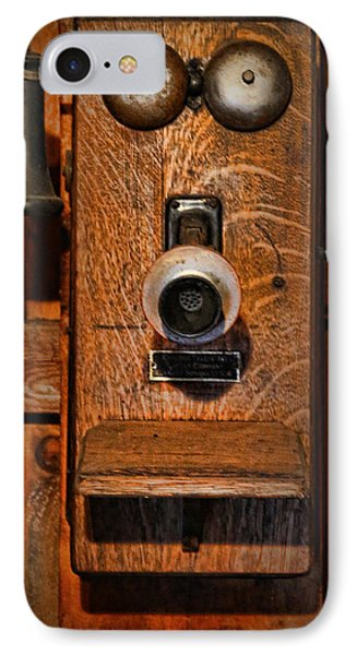 Telephone - Antique Wall Telephone Phone Case by Lee Dos Santos
