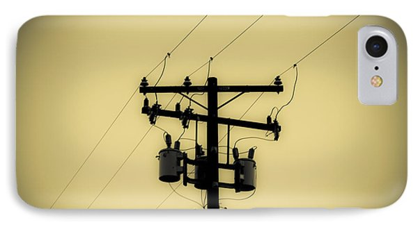 Telephone Pole 1 IPhone Case by Scott Campbell