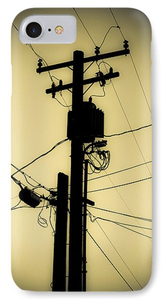 Telephone Pole 2 IPhone Case by Scott Campbell