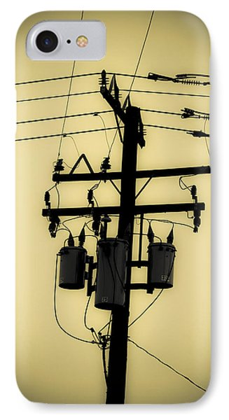 Telephone Pole 3 IPhone Case by Scott Campbell