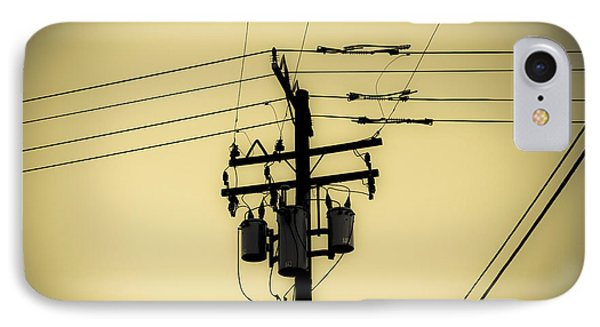 Telephone Pole 4 IPhone Case by Scott Campbell