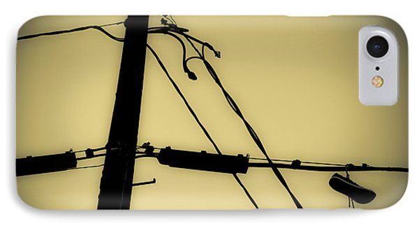 Telephone Pole And Sneakers 2 IPhone Case by Scott Campbell