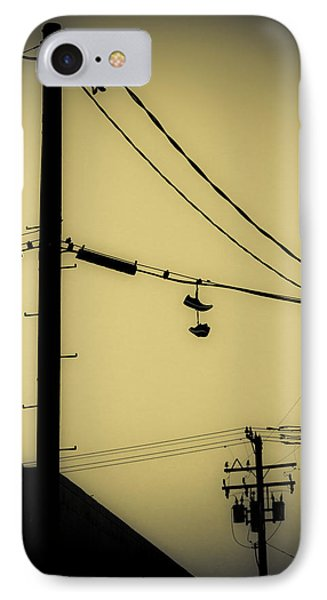 Telephone Pole And Sneakers 3 IPhone Case by Scott Campbell