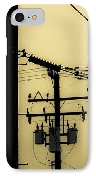Telephone Pole And Sneakers 5 IPhone Case by Scott Campbell