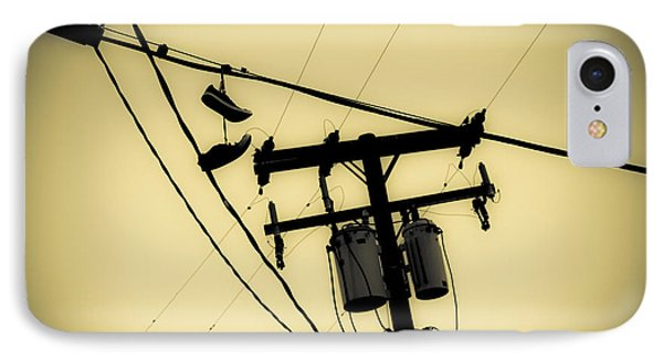 Telephone Pole And Sneakers 7 IPhone Case by Scott Campbell