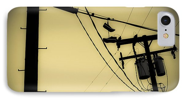 Telephone Pole And Sneakers 9 IPhone Case by Scott Campbell