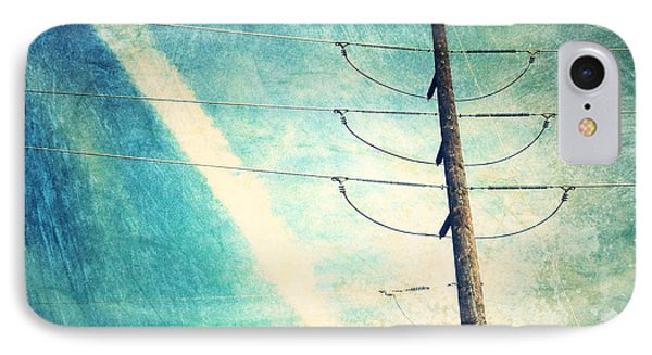 Telephone Pole And Wide Contrail IPhone Case by Amy Cicconi