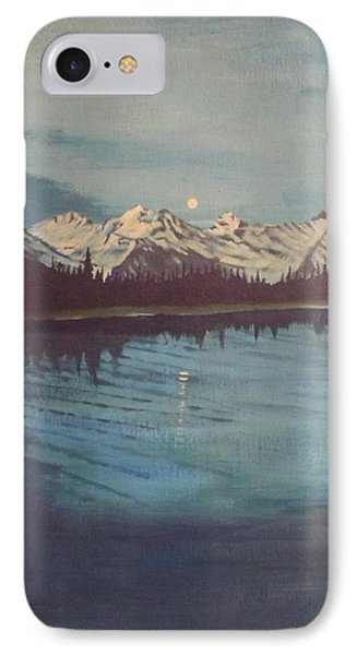 IPhone Case featuring the painting Telequana Lk Ak by Terry Frederick