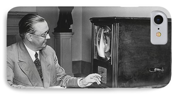 Television In The White House IPhone Case by Underwood Archives