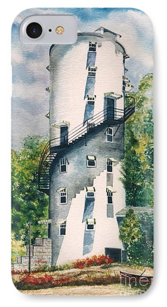 IPhone Case featuring the painting Tellico Roundhouse by Arthaven Studios by Teri Atkins Brown