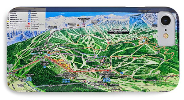 Telluride Ski Map Detail  IPhone Case by David Lee Thompson