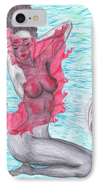 IPhone Case featuring the drawing Temperate Satin Breeze by Kenneth Clarke