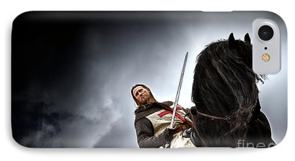 Templar Knight Friesian II IPhone 7 Case by Holly Martin