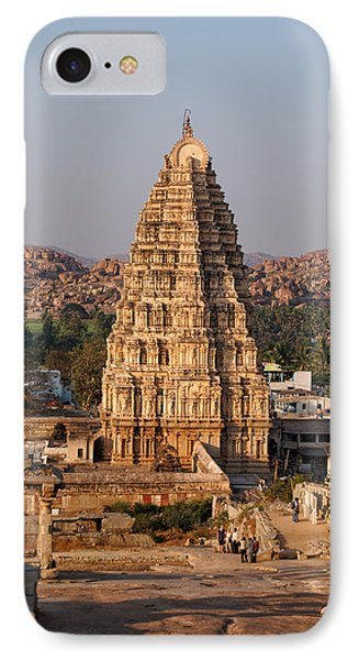 Temple At Hampi IPhone Case by Carol Ailles