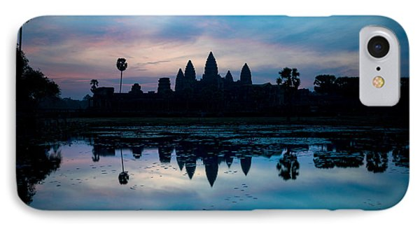 Temple At The Lakeside, Angkor Wat IPhone Case by Panoramic Images