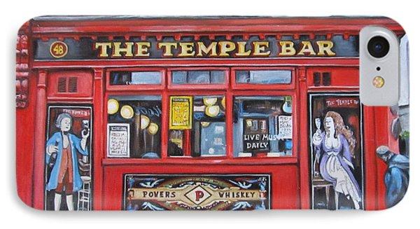 IPhone Case featuring the painting Temple Bar Dublin Ireland by Melinda Saminski