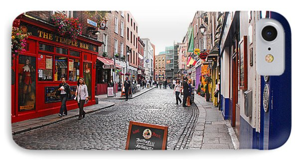 Temple Bar IPhone Case by Mary Carol Story