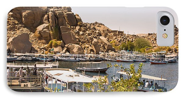 Temple Boat Dock IPhone Case by James Gay