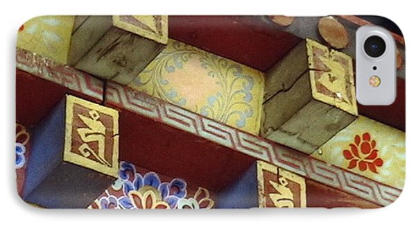 IPhone Case featuring the painting Temple In Bhutan by Patrick Morgan