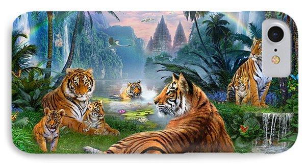 Temple Lake Tigers Phone Case by Jan Patrik Krasny