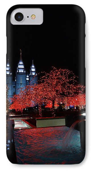Temple Lights And Water IPhone Case by Gloria Pasko