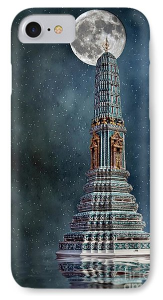 IPhone Case featuring the photograph Temple Moon by Shirley Mangini